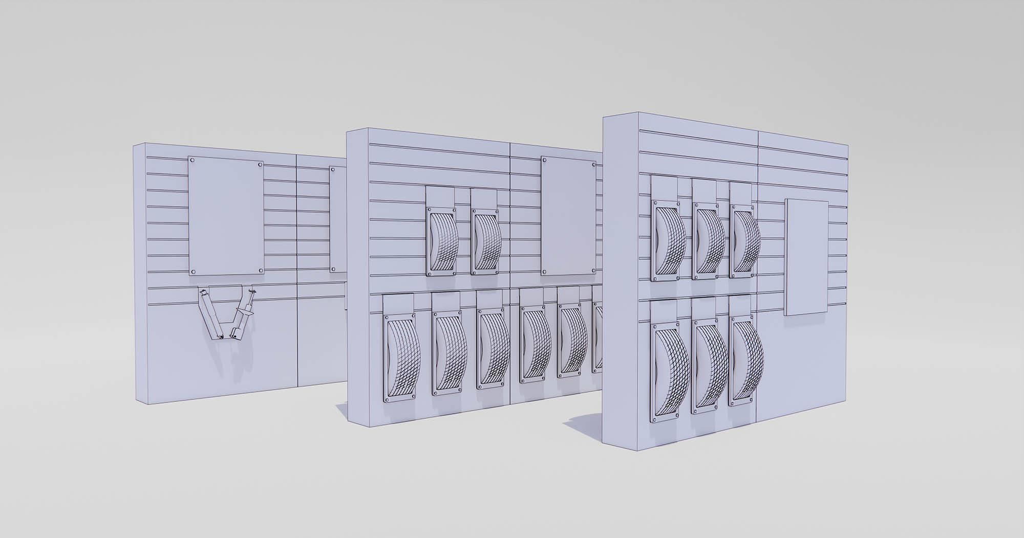 Les Schwab Tire Center - Bend, Oregon - Merchandise Display 3D Model