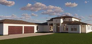 Image Custom Homes - Fresno California - 3D Model - Lester Rersidence
