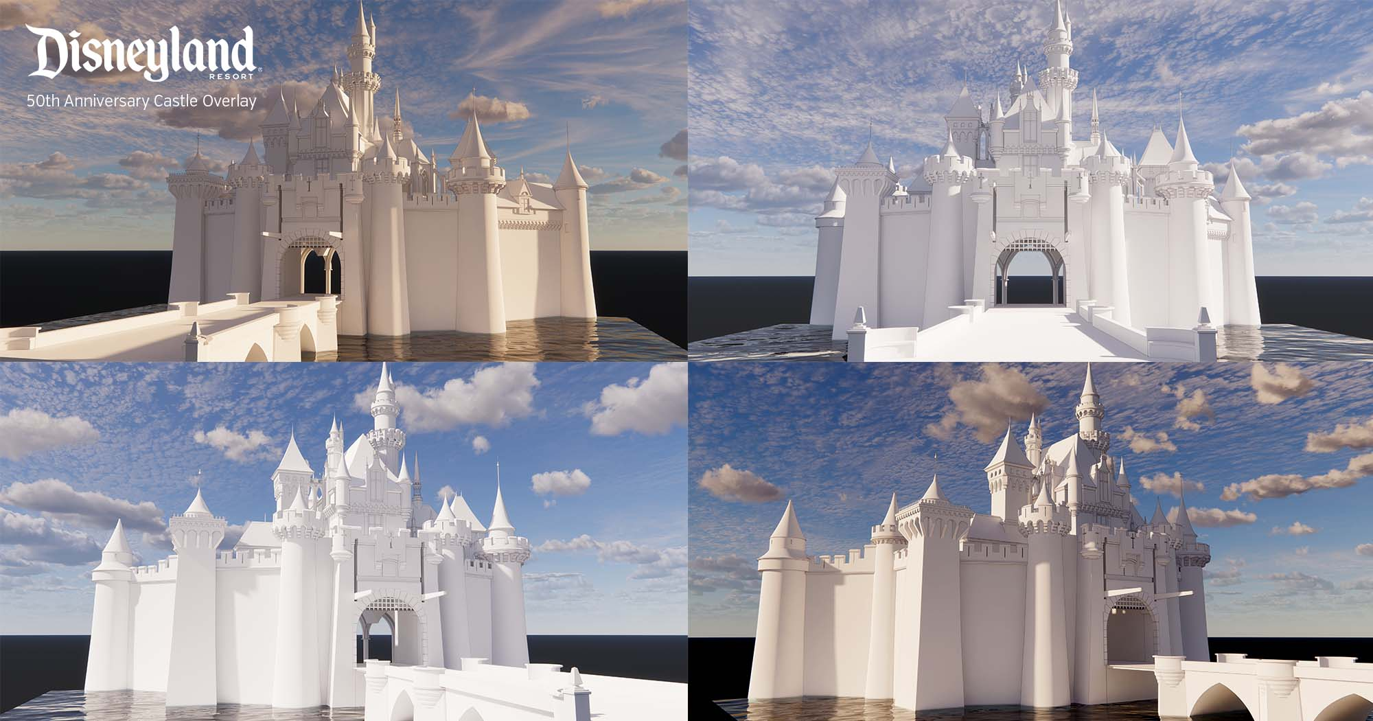 Disneyland's Sleeping Beauty Castle - 50th Anniversary 3D Model