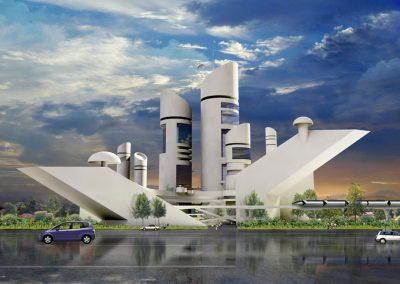 Arthur Dyson Architect - Grand Central Station Concept - Fresno, CA