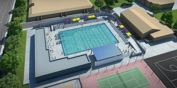 tam+cz Architects - Fresno High School Pool