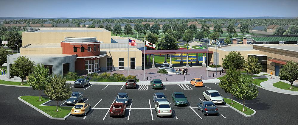 tam+cz architects - Peach Plaza 3D Model - Fresno/Clovis